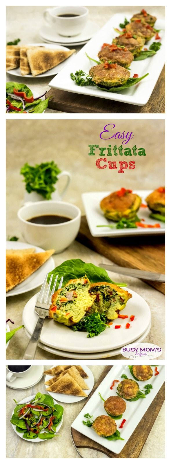 Easy Frittata Cups / a great easy breakfast recipe