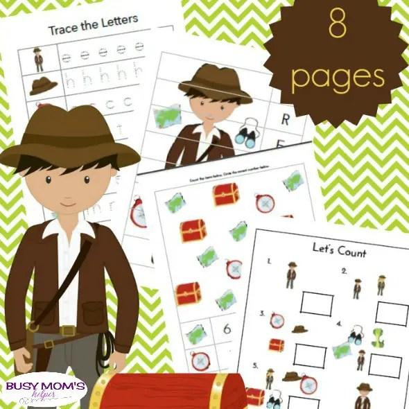 Free Printable Treasure Hunters Preschool Pack