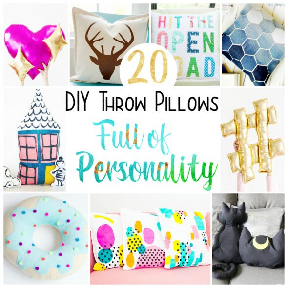 20 DIY Throw Pillows - a list of great home projects!