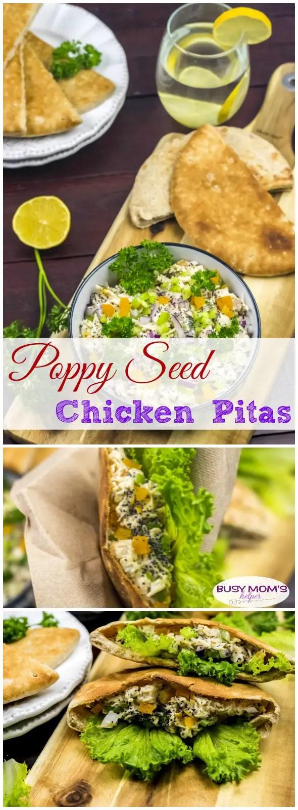 Poppy Seed Chicken Pitas