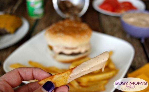 Gourmet-Style Garlic Jalapeno Burger / a super easy, delicious sauce to take your homemade hamburger from eh to WOW! #ad #LeaveBlandBehind