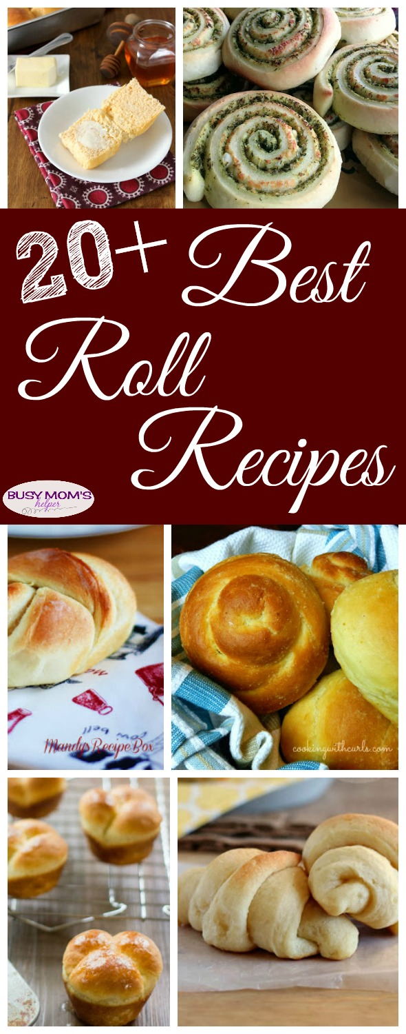 20+ Best Roll Recipes for the holidays or any occasion #rolls #bread #recipe #food #thanksgiving #holidayfood #sidedish