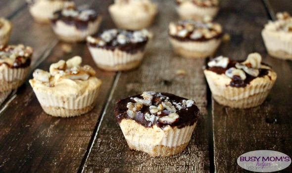 Chocolate Pumpkin Mini Pies, a great Thanksgiving dessert recipe!