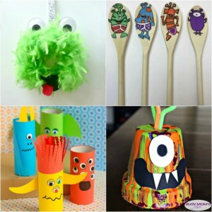 21 Alien and Monster Crafts for Kids #kidcrafts #aliens #monsters #craftsforkids