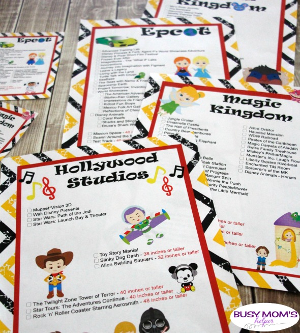 photo relating to Disney World Printable Tickets called Up to date Walt Disney World wide Trip Lists - Fast paced Mothers Helper