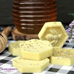 DIY Honey Bee Glitter Soap