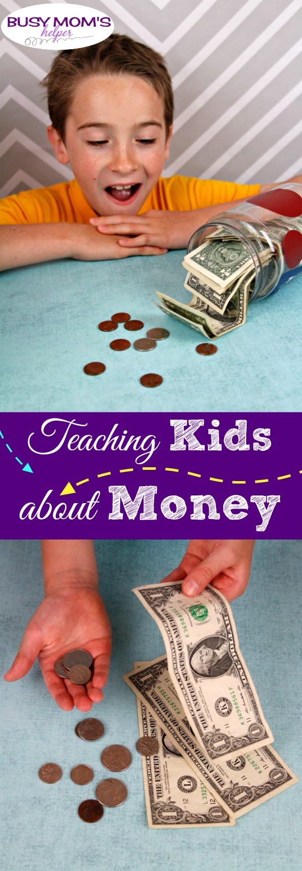 Kids and Money: Teaching our kids good financial skills when they're young for success when they're older! #parenting #kids #money #budget #moneyskills #finances #kidmoney #allowance