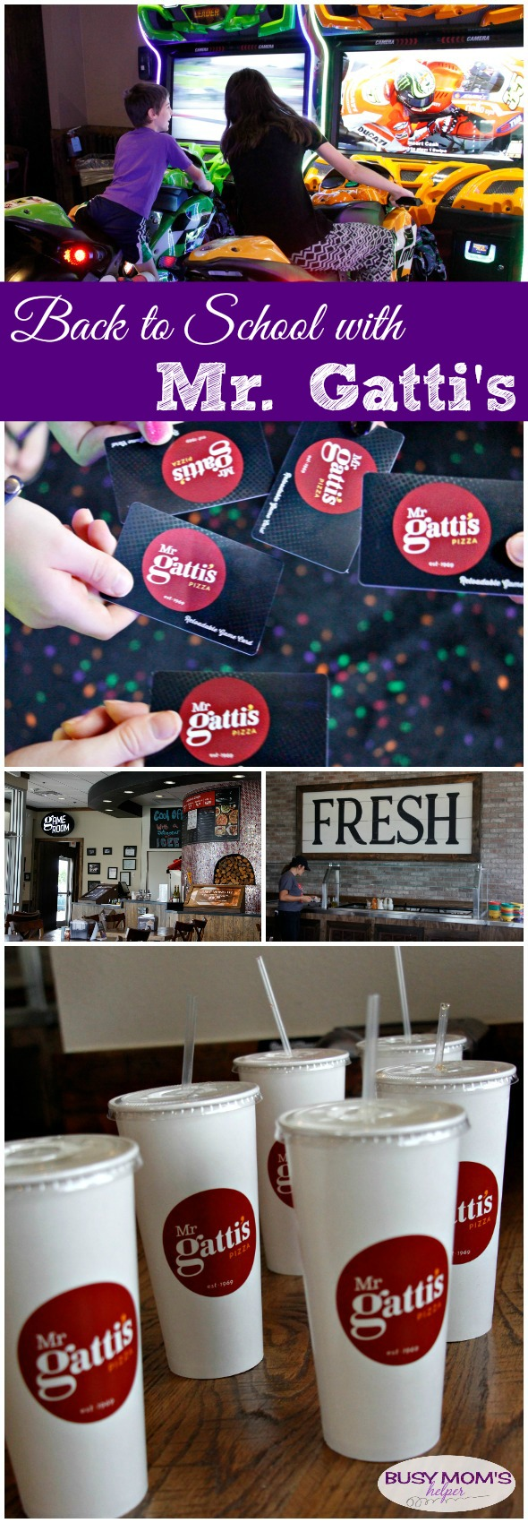Back to School with Mr. Gatti's Pizza #AD #mrgattisbacktoschool Don't miss their back-to-school promotion: Get a free $5 game card with every buffet purchase!