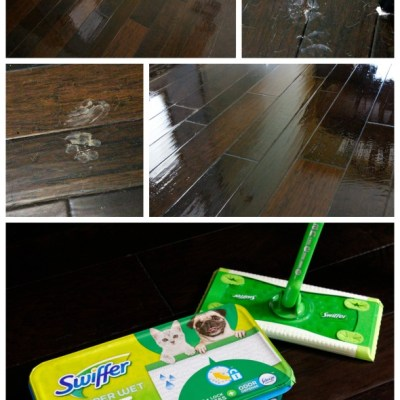 Spring Means Muddy Paws - but tackle the mess easily with your arsenal of Swiffer products! #ad #DontSweatYourPet #SwifferFanatic