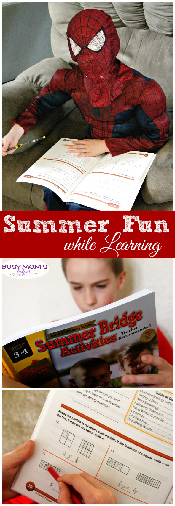 Lots of easy fun Summer Learning! Just 15 minutes a day helps keep minds sharp & ready for the next school year #AD #CarsonDellosaEducation #IC
