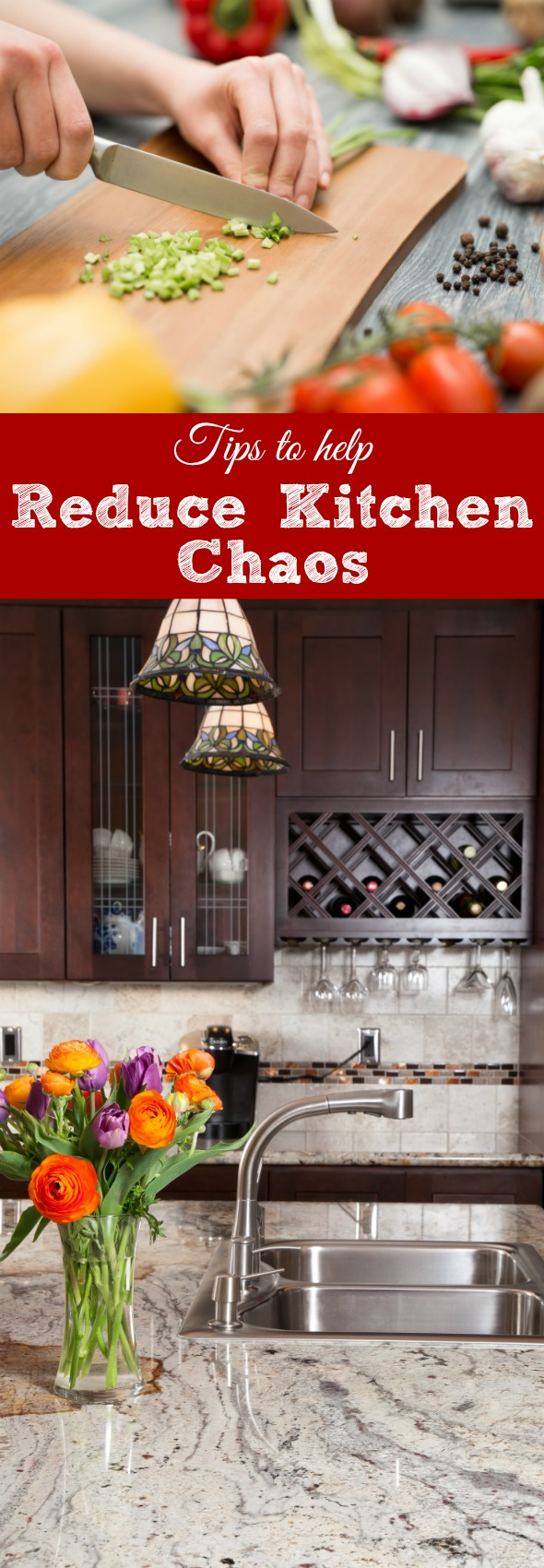 Tips to help reduce kitchen chaos #organizing #cleaning #homemanagement #kitchen