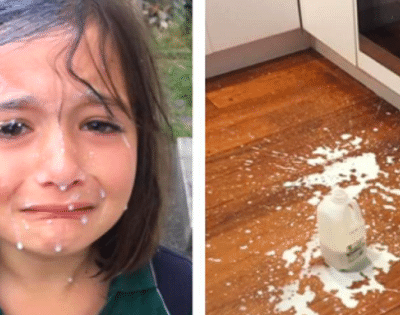A Clever Mom Finds a Great Life-Hack for Milk Spills