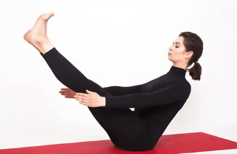 Naukasana or Boat yoga Pose
