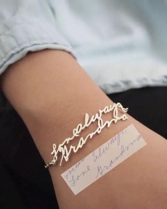 Handwriting Bracelets