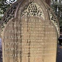 Gravestone in the church yard at Haworth