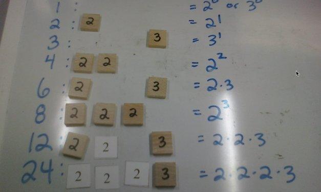 Prime Number Manipulatives