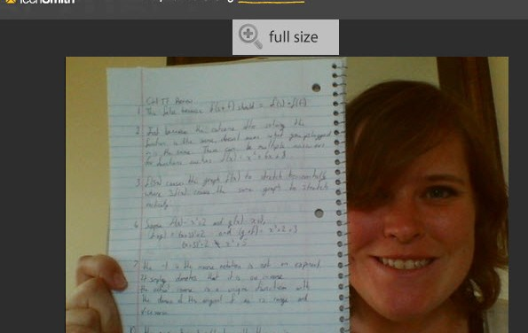 Collecting Learning Notebooks in an Online Course