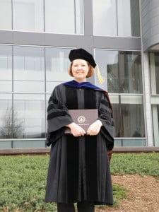 Maria at PhD Graduation