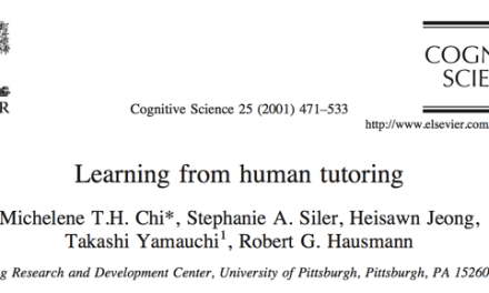 Learning from Human Tutoring