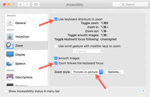 select-zoom-preferences