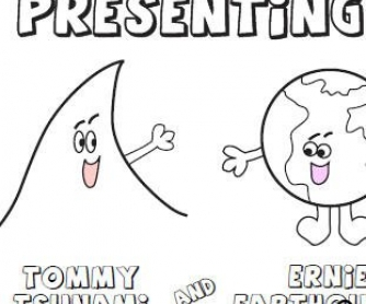 Tommy Tsunami Coloring Book