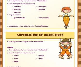 Degrees Of Comparison Worksheet