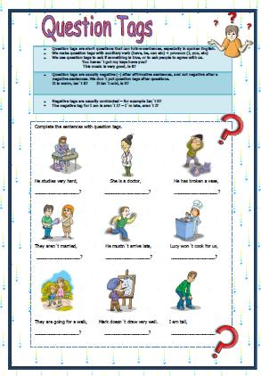 Question Tags Worksheet Ii