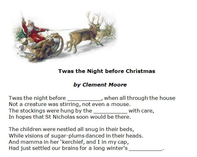 Twas The Night Before Christmas By Clement Moore Poem