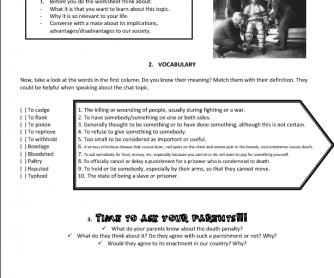 Penalty Worksheet