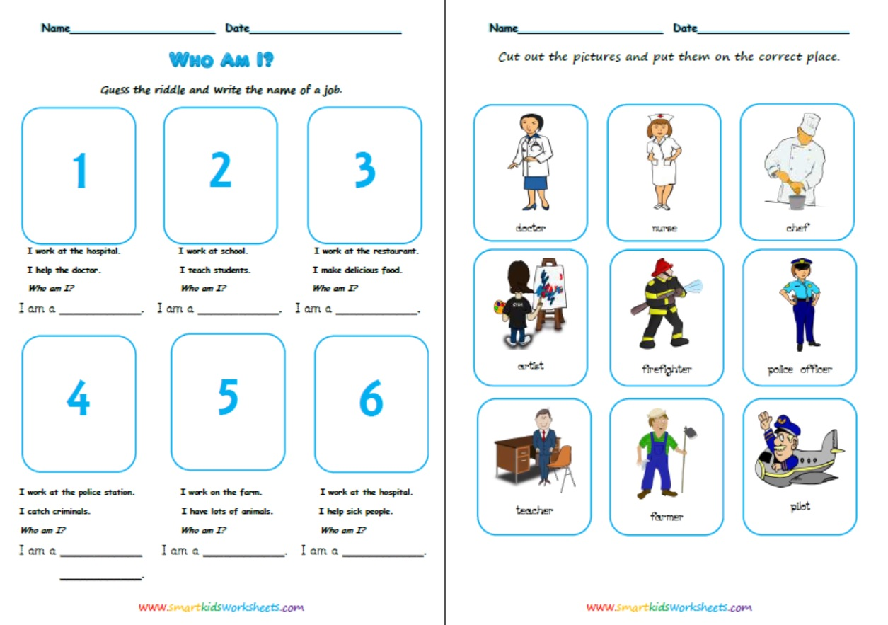 Jobs Easy Worksheet