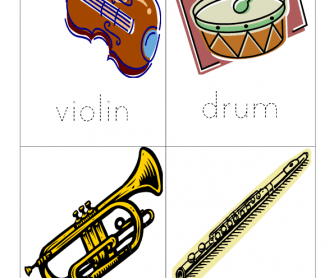 Musical Instruments Word Tracer