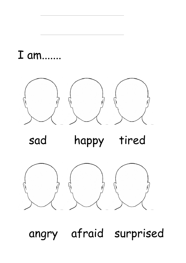 How Are You Emotions Blank Face Templates