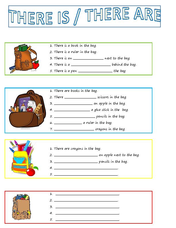 My Bag Writing Worksheet