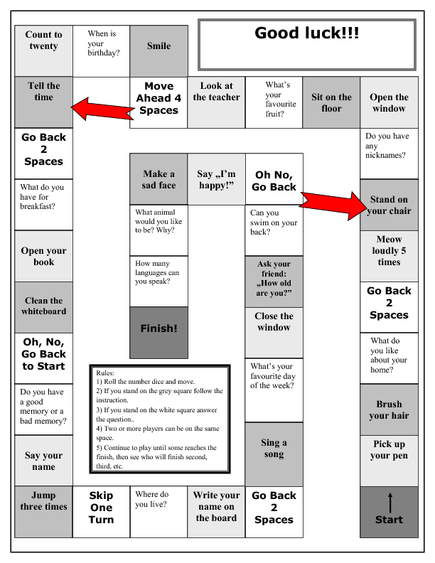 introduction board game going back giving personal information