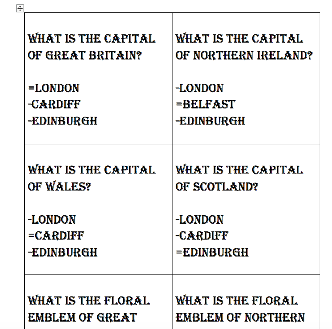 Year 6 Geography Worksheet