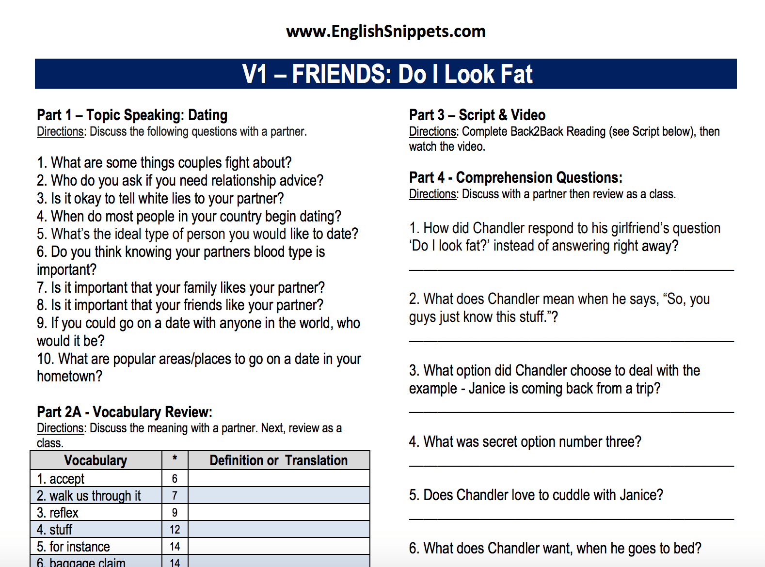 936 Free Speaking Worksheets