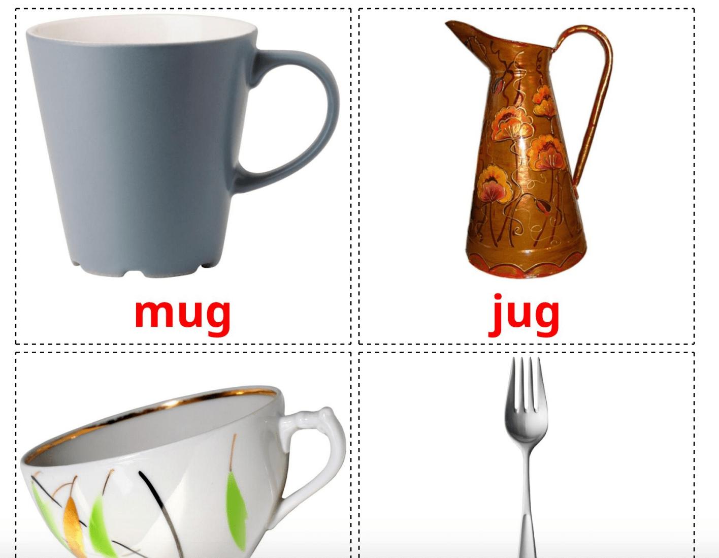 29 Realistic Crockery And Cutlery Flashcards