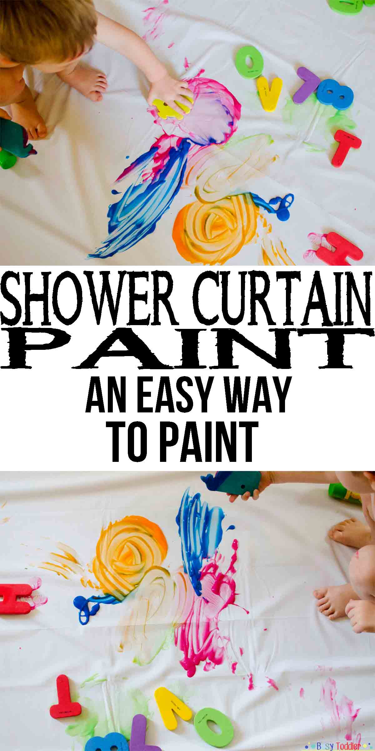 shower curtain paint busy toddler