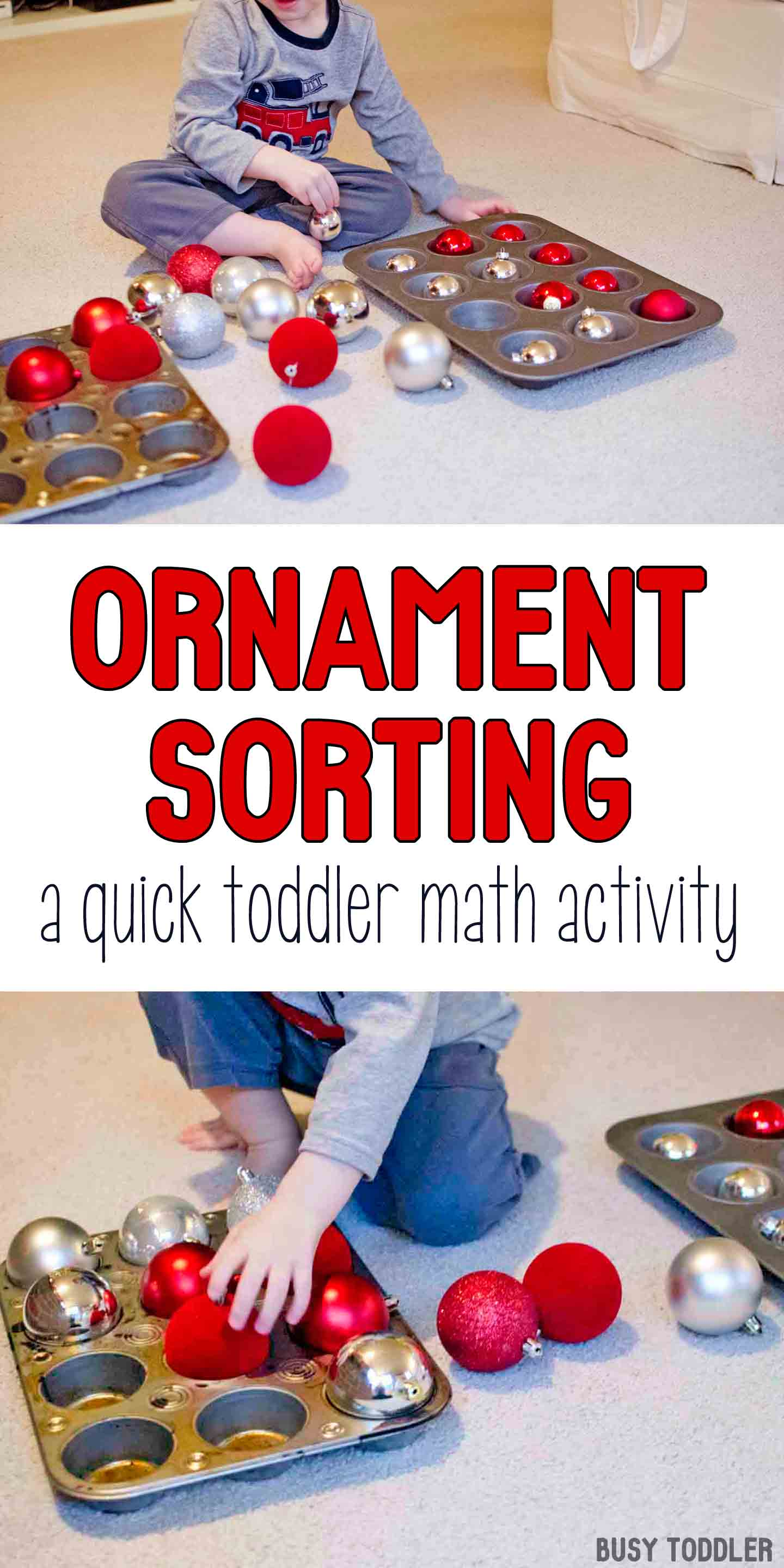 Ornament Sorting Holiday Math Activity