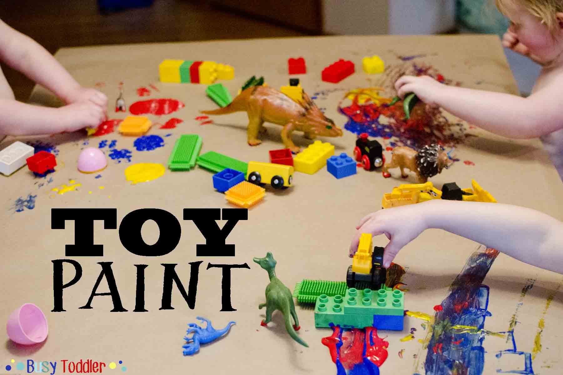 Toy Paint Messy Art Activity