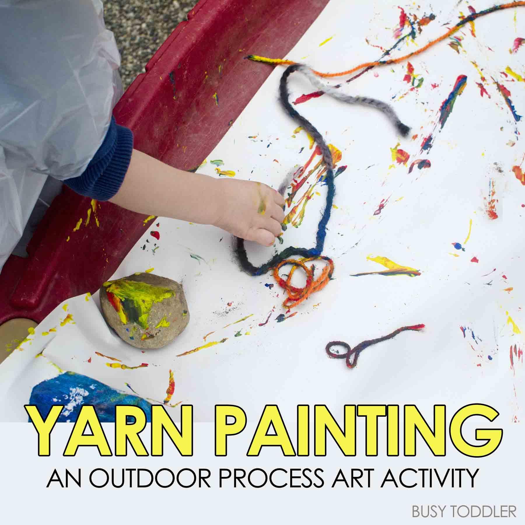 Yarn Painting Outdoor Process Art