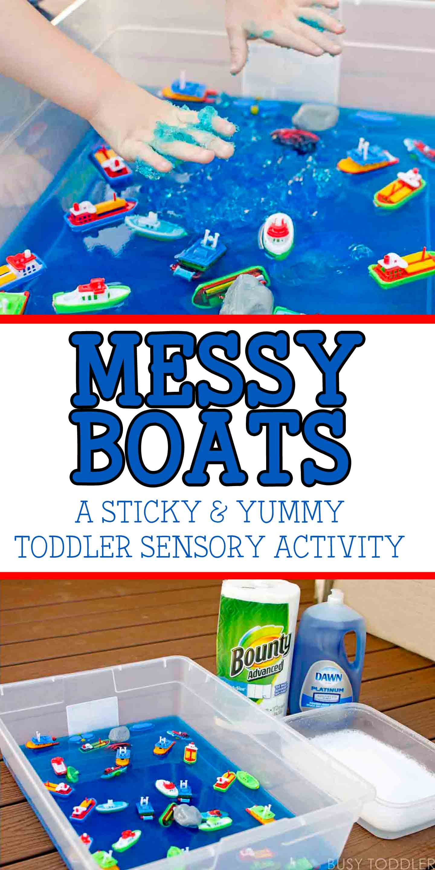 Messy Boats Sticky Yummy Toddler Play