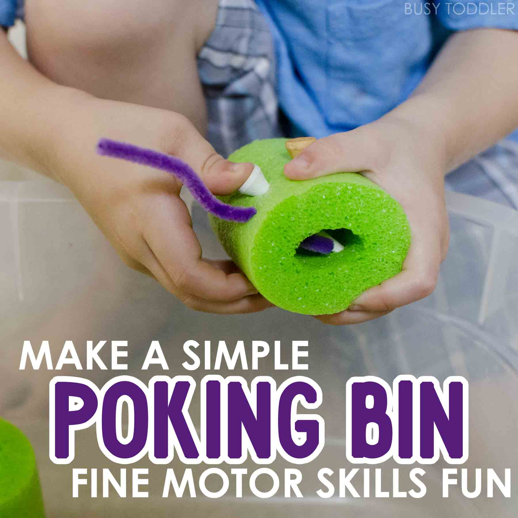Poking Bin Fine Motor Skills Fun