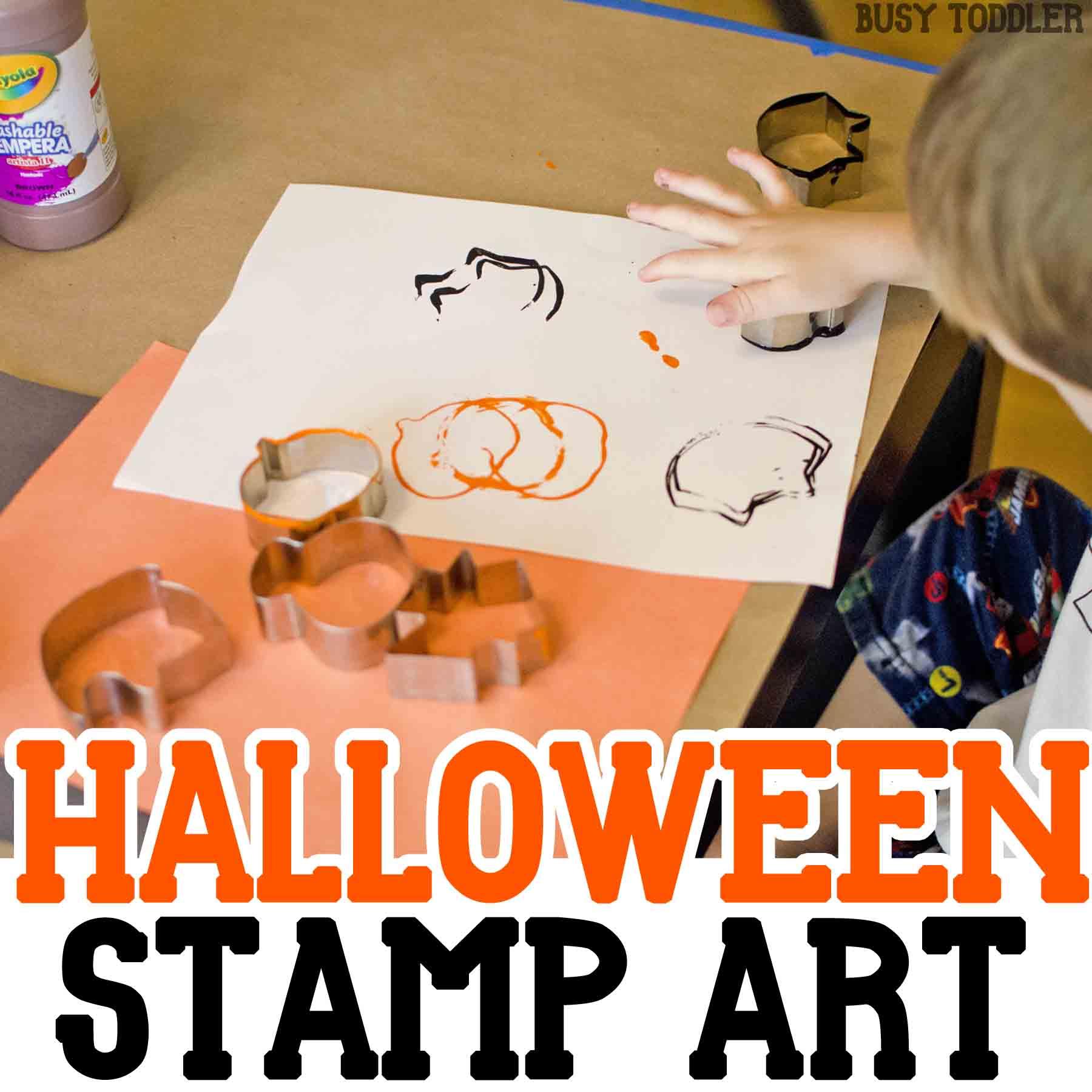 Halloween Stamp Art