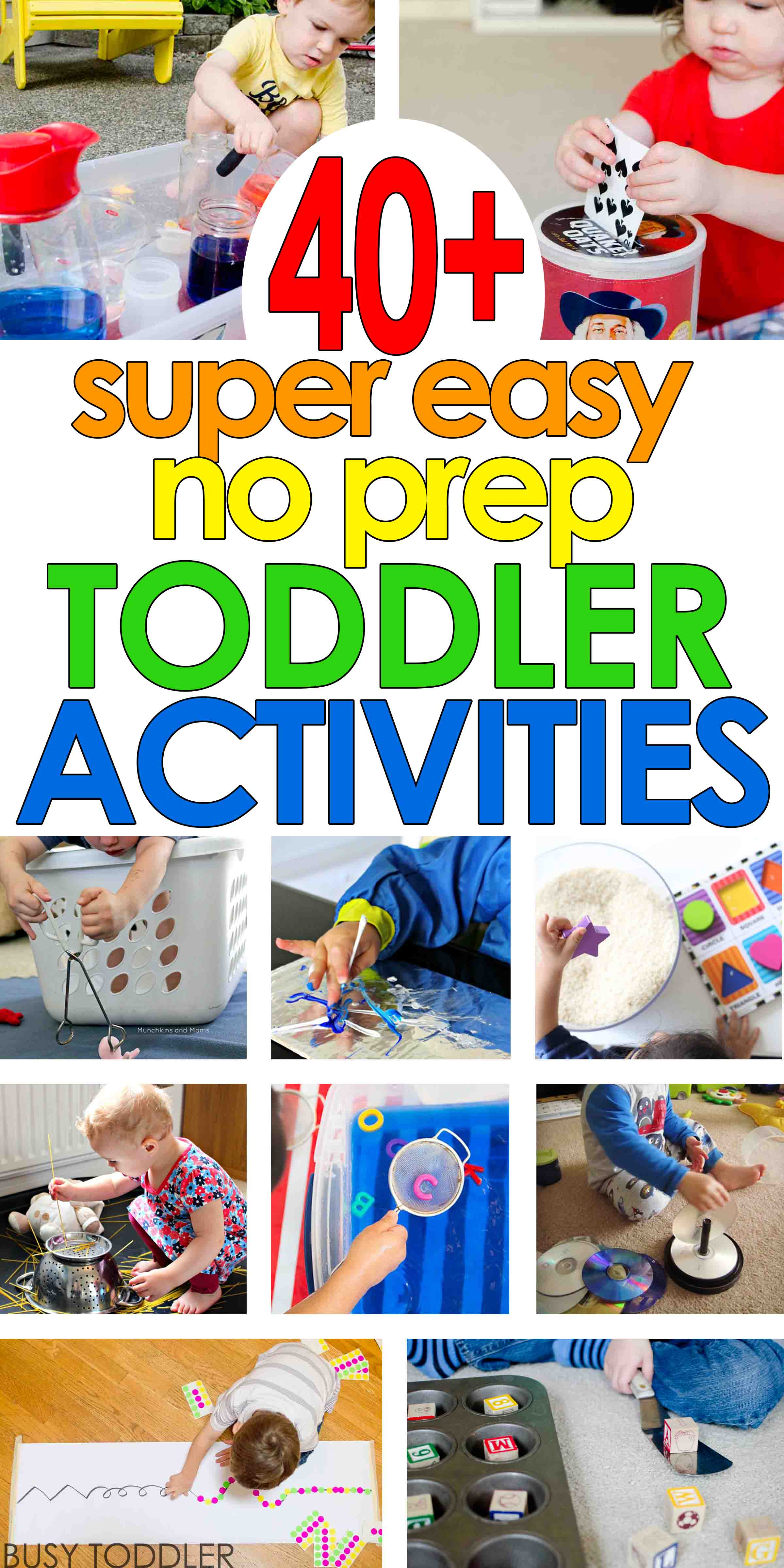40 Super Easy Toddler Activities