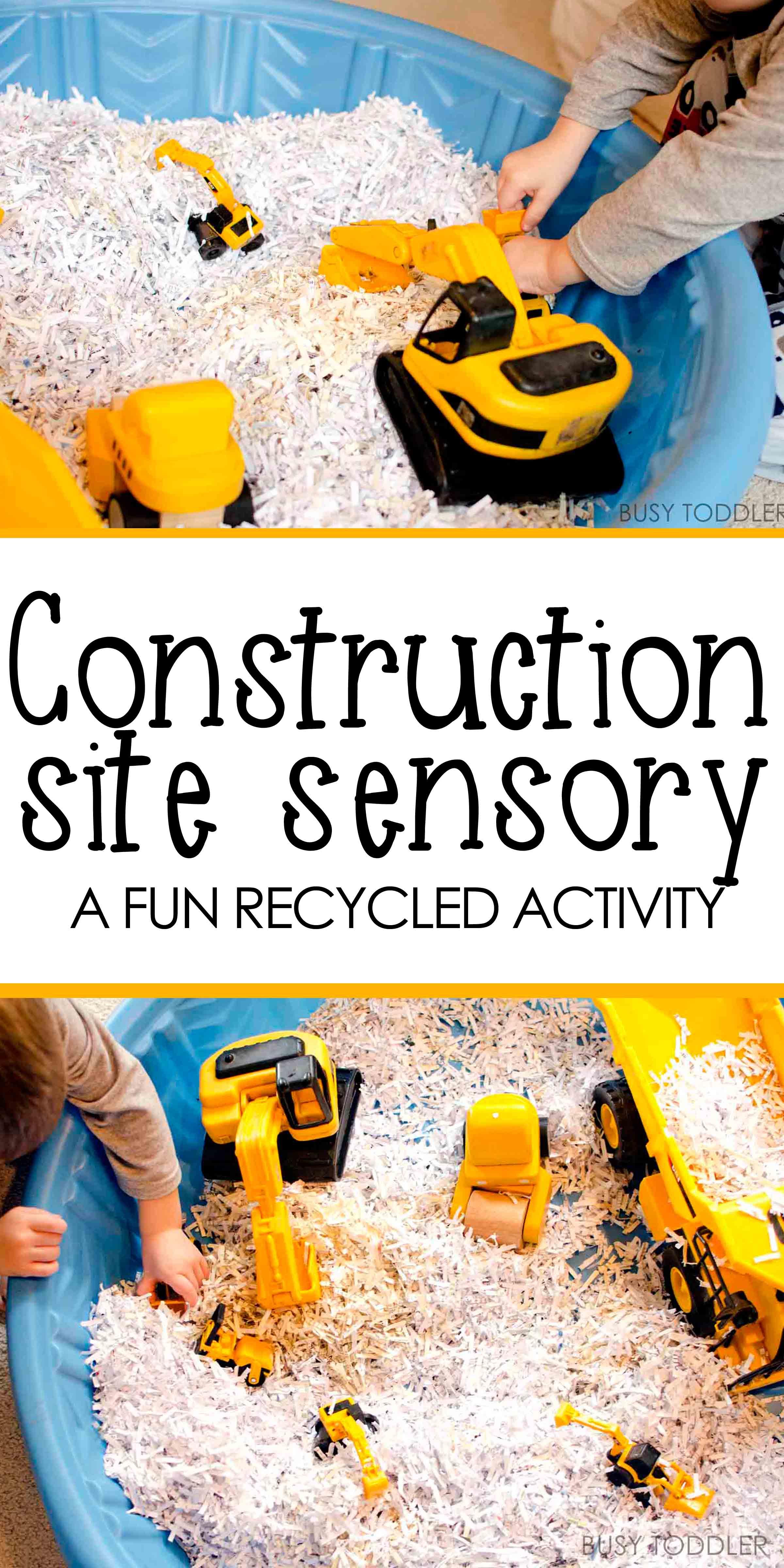 Construction Site Sensory Bin