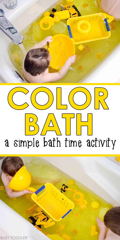 Color Bath Toddler Activity