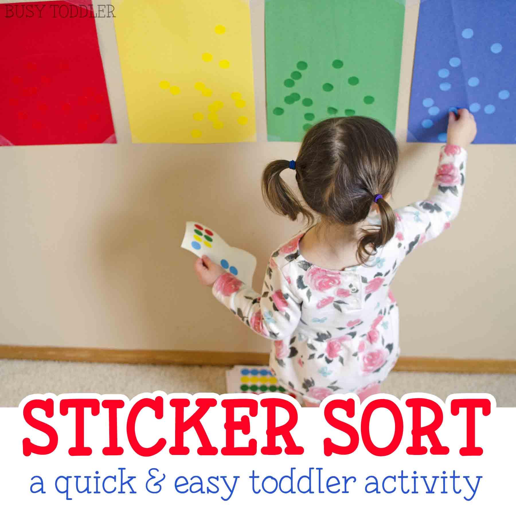 Sticker Sorting Activity