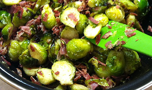 Christmas Dinner brussel sprouts