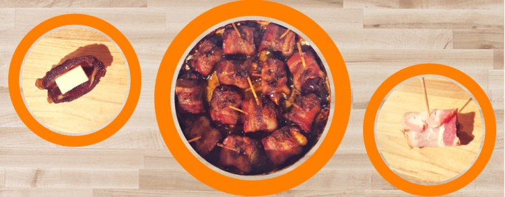 March Madness Snack – Bacon Wrapped Dates